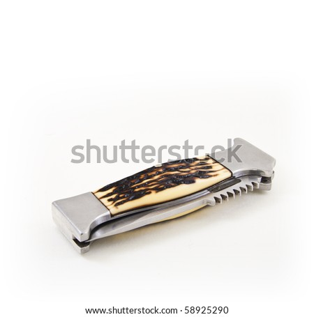 Folded knife - stock photo