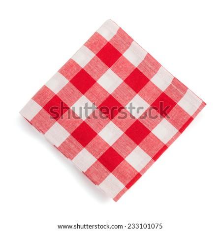 folded napkin isolated on white background - stock photo