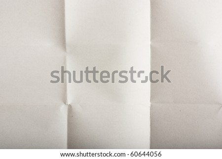 folded paper - stock photo