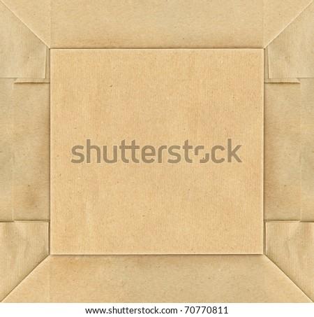 Folded paper background - stock photo
