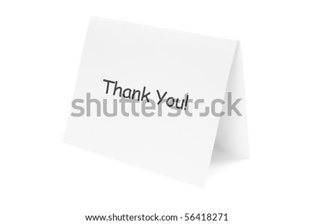 Folded Paper on White Background - stock photo