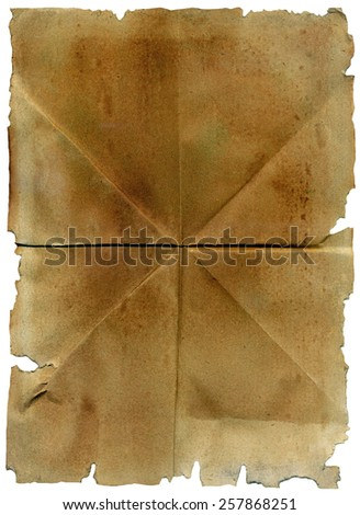 Folded paper sheet - stock photo