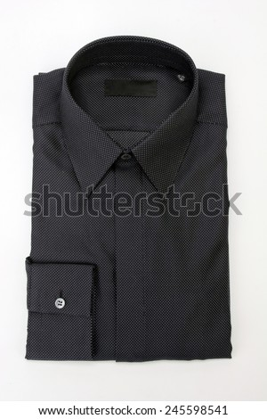 folded shirt isolated on white background