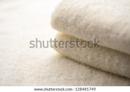 Folded towel - stock photo