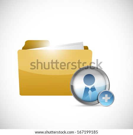 folder and avatar illustration design over a white background - stock photo