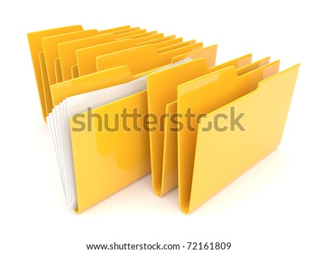 Folder. Directory. File 3D isolated - stock photo