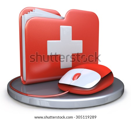 Folder File First Aid  - stock photo