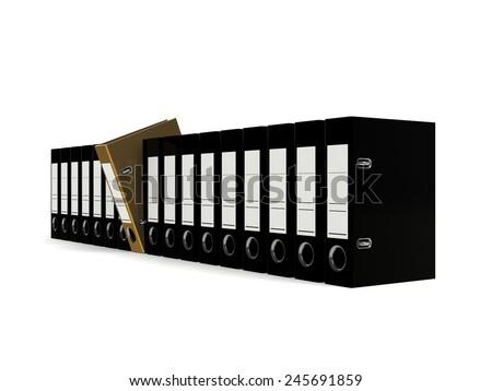 Folder for documents 3d render - stock photo