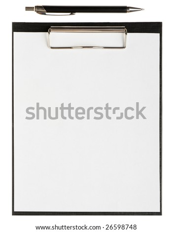 Folder for papers and pen - stock photo