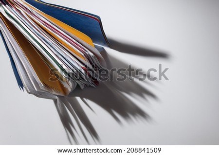 Folder from above - stock photo