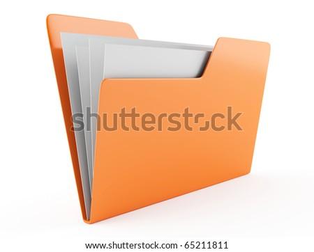 Folder icon 3d - stock photo
