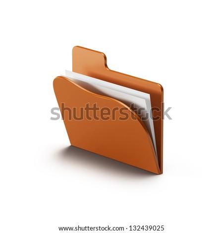 folder icon isolated on white background - stock photo