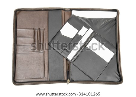 folder on the white background