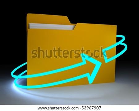 Folder over white background. 3d render - stock photo