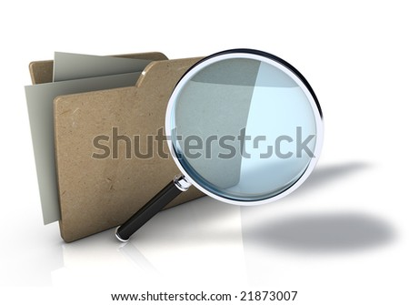 Folder Search - stock photo