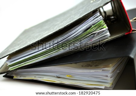 Folder with a lot of documents  - stock photo