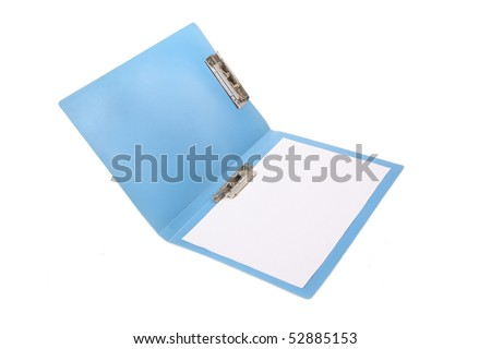 folder with blank paper - stock photo