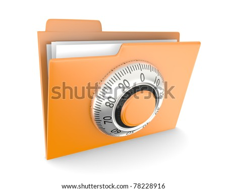 Folder with combination lock