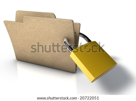 Folder with padlock - stock photo