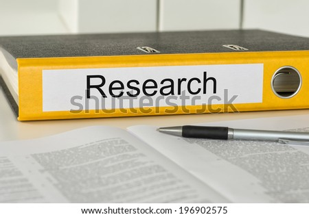 Folder with the label Research - stock photo