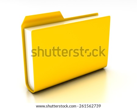 folders and files on a white background