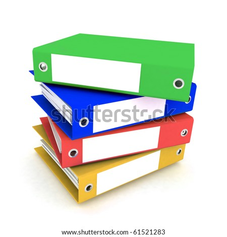 folders for papers on a white background - stock photo