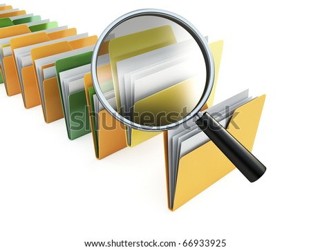 folders search - stock photo