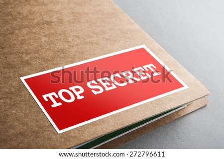 Folders with the label: top secret - stock photo
