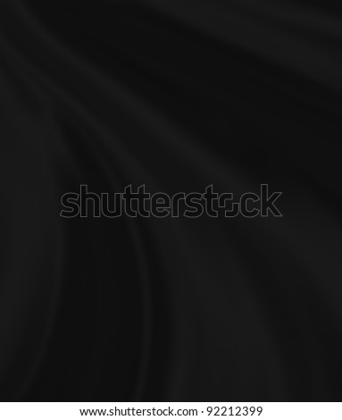 folds of black silk, close-up full screen - stock photo