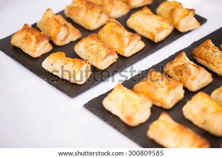 Folhado de Carne, Meat Pie - stock photo
