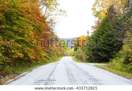 Foliage in Vermont, United States - stock photo