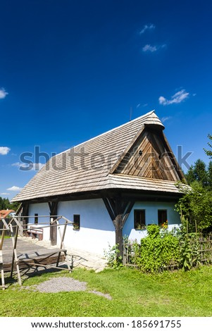 folk museum in Vesely Kopec, Czech Republic - stock photo
