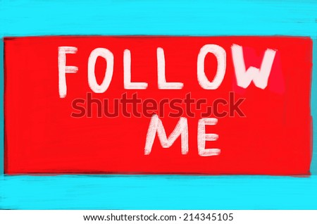 follow me concept - stock photo