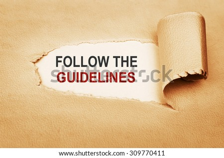 Follow the Guidelines Concept - stock photo