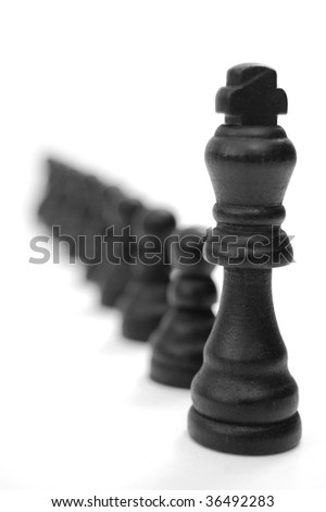 Follow the leader - stock photo