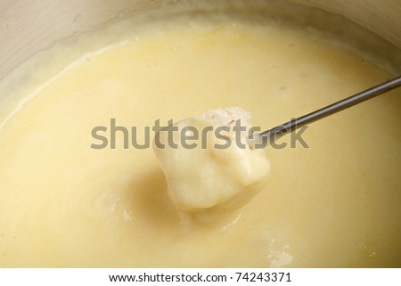 fondue cheese - stock photo