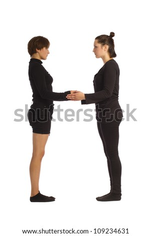 Font H formed by humans bodies - stock photo