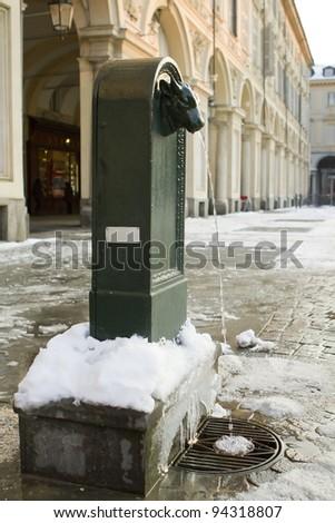 fontain turin italy - stock photo