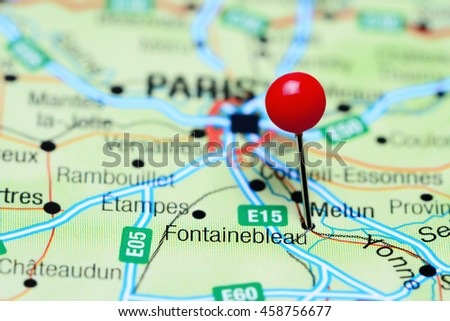Fontainebleau Pinned On Map France Stock Photo 458756677 Shutterstock