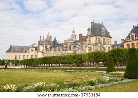 Fontainebleau (Seine-et-Marne, Ile-de-France, France) - Exterior of the ancient castle