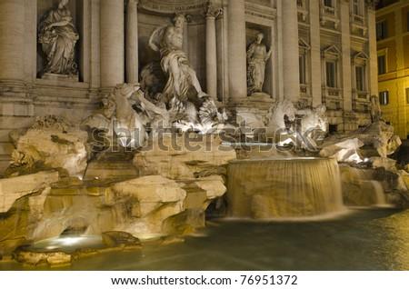 Fontana Di Trevi in Rome, Italy - stock photo