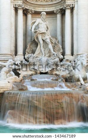 Fontana di Trevi in Rome, Italy, Europe - stock photo