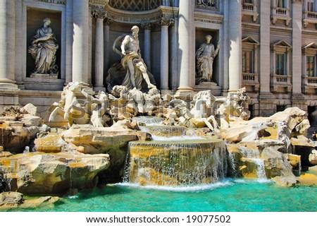 Fontana di Trevi, Rome (Italy) - stock photo