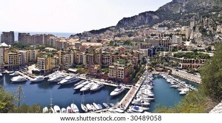 Fontveille marina, Monte Carlo, Monaco - stock photo