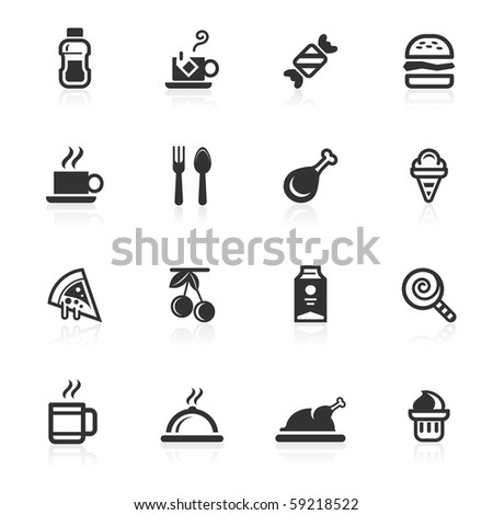 Food and beverages  icons - minimo series - stock photo