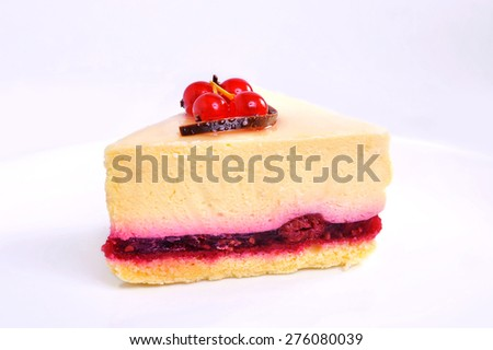 food and drink cherry cake1 - stock photo