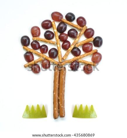 Food art - Tree - stock photo