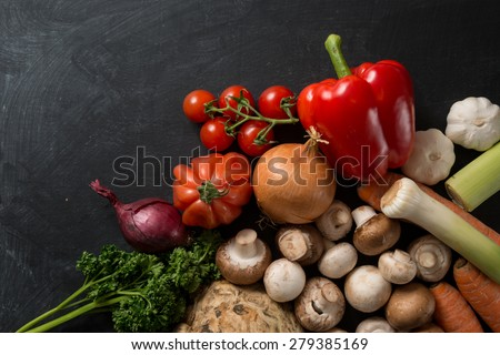 Food Background Vegetable Mix - stock photo
