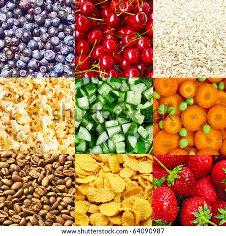 Food backgrounds - stock photo