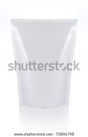 food bag ready for your design. isolated over white background - stock photo